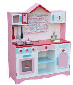 """""""Country"""" fa Játékkonyha + konyhai felszerelés #rózsaszín 30338506"""