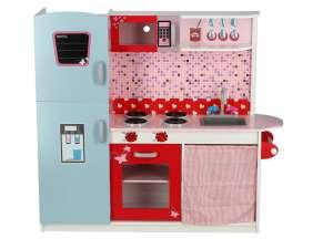 Paris fa Játékkonyha + ajándék konyhai szett #rózsaszín 30338521 Babakonyha / Játékkonyha