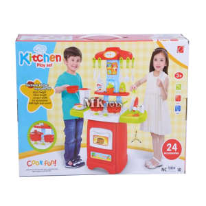 Elektromos Játékkonyha kiegészítőkkel #piros 30338677