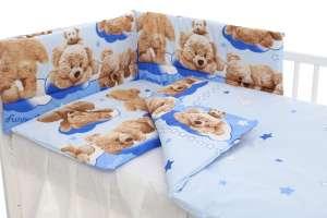 5 részes Babaágynemű - Boldog macik #kék 30338698