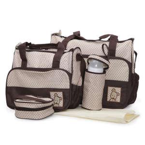 Cangaroo Stella Pelenkázó táska szett #bézs-barna  30338783