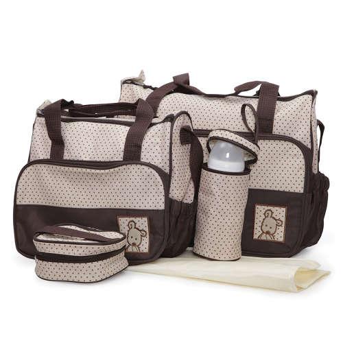 Cangaroo Stella Pelenkázó táska szett #bézs-barna