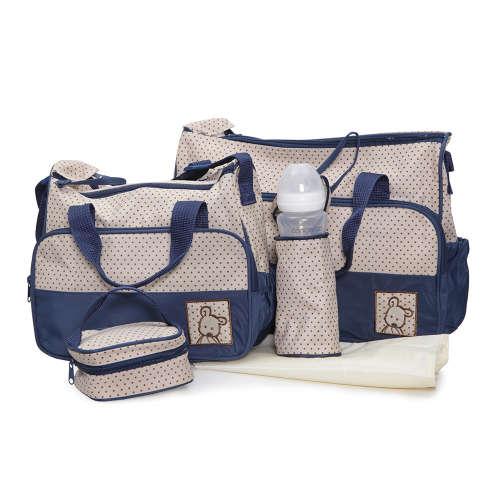 Cangaroo Stella Pelenkázó táska szett #bézs-kék