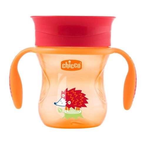 Chicco 360° Perfect Itatópohár 200ml - 12m+ #narancssárga