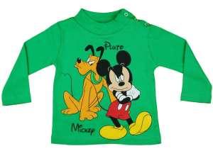 f6bb60bbaa Disney Hosszú ujjú póló - Mickey Mouse és Plútó #zöld 30483147 Gyerek  hosszú ujjú póló
