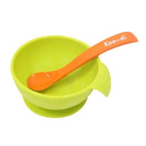 Koo-di Tányér szett #zöld-narancssárga 30339573 Tányér, evőeszköz, étkészlet