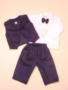 Keresztelő kordbársony garnitúra fiús #kék 30339700