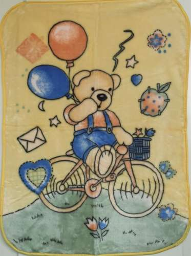 Baba pléd 80x110cm - Biciklis maci  kék  fa9109d122