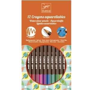 Djeco Design by - 12 akvarellceruza, klasszikus színek  30404619