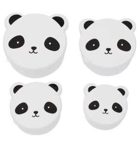 A Little Lovely Company – 4 db-os Uzsonnás doboz szett, panda 30489523