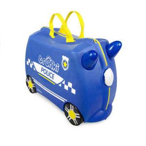 Trunki Gyermek Bőrönd - Percy, a rendőrautó 30341504 Trunki