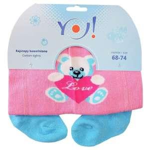 Yo! Baby pamut Harisnyanadrág lány (68-74) - maci 30341551