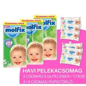 Molfix Havi Pelenkacsomag 3+3 csomag popsitörlővel 11-18kg 30346970