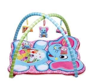 Játszószőnyeg  játékhíddal - Elefánt #rózsaszín-kék 30342551