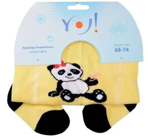 Yo! Baby pamut Harisnyanadrág lány (68-74) - panda #sárga 30343370