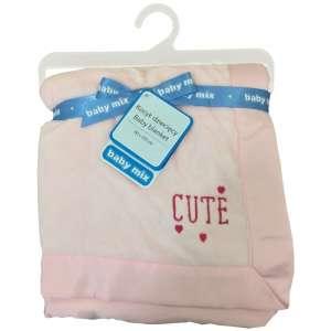 Baby Mix Cute puha babatakaró 80x104cm #rózsaszín 30343805