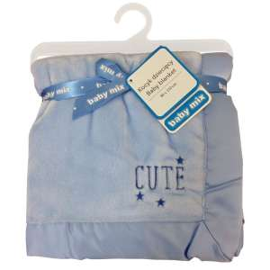 Baby Mix Cute puha babatakaró 80x104cm #kék 30343814