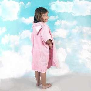 Fürdőponcsó - Cica #rózsaszín