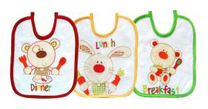Bobobaby Előke szett 3db - Állatok #piros-sárga-zöld 30446006 Előke, büfikendő