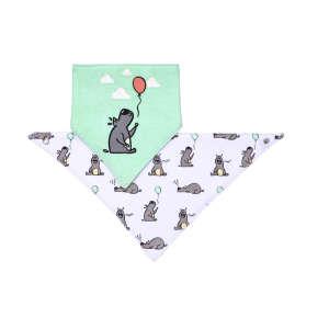 BabyOno háromszög Előke 2db - Kutya #türkiz-fehér 30345743 Előke, büfikendő
