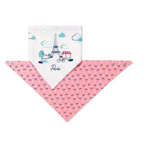 BabyOno háromszög Előke - 2db #rózsaszín-fehér 30345747 Előke, büfikendő