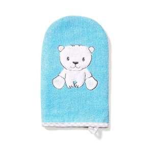 BabyOno bambusz Fürdetőkesztyű - Jegesmedve #kék  30345757 Mosdószivacs, kendő, kesztyű