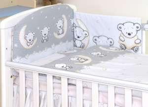MamaKiddies Baby Bear 5 részes ágynemű #szürke macis 30345806