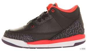 Nike Gyerek Edzőcipő Jordan 3 Retro Ps (28,5) #fekete-piros-szürke 30346901