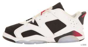 Nike Gyerek Edzőcipő Jordan 6 Retro (28,5) #fehér-fekete  30346913