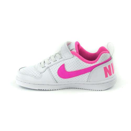 ... Nike Court Borough Low PSV Gyerek Lány Sportcipő  fehér-rózsaszín ... 7426f54a32