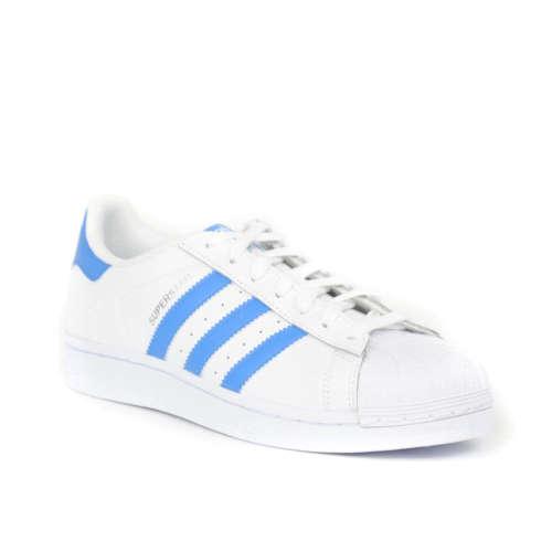 Adidas Superstar Férfi Utcai Cipő  fehér-kék  c3aed9272c