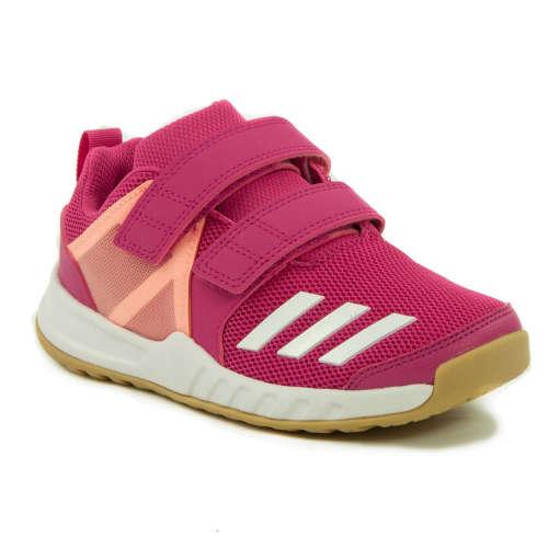 Adidas FortaGym K Gyerek Lány Teremcipő  rózsaszín-barackvirág ... b7bc6ac20b