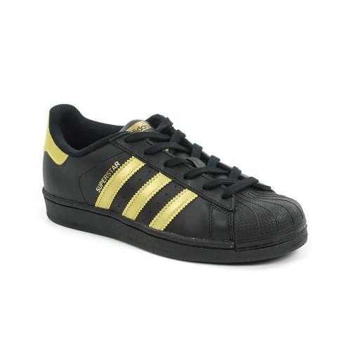 Adidas Superstar unisex Utcai Cipő  fekete-arany  35716d39b4