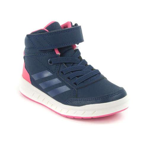 Adidas Alta Sport Mid K Gyerek Lány Száras Sportcipő  kék-rózsaszín-fehér 38af4d8426