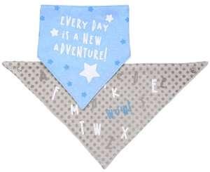 BabyOno háromszög Előke 2db - Csillag #kék-barna 30356684 Előke, büfikendő