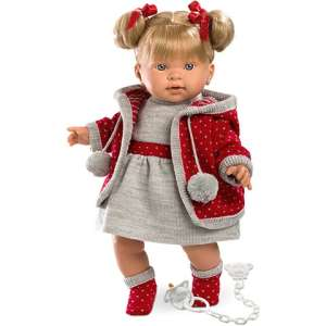 LLorens: Pippa Baba kötött ruhában 42cm 30391783