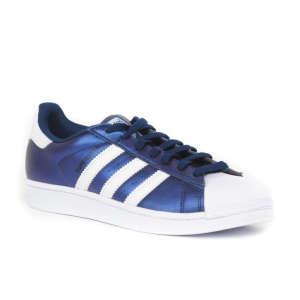 Adidas Superstar Férfi Utcai Cipő  sötétkék-fehér da238605dc