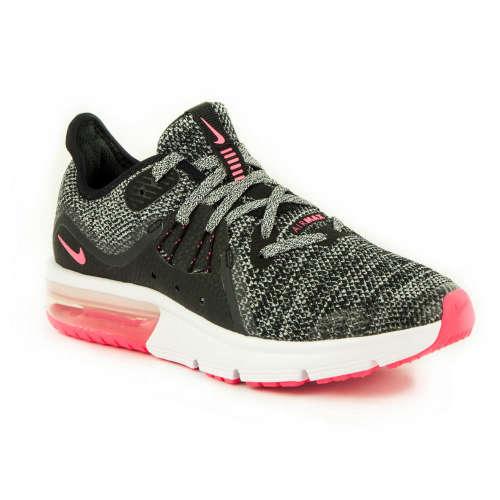 Nike Air Max Sequent 3 Gs lány Sportcipő  szürke-rózsaszín  722dbe57ea
