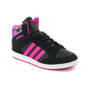 Adidas Neo Hoops Mid K Száras Cipő #fekete-pink 30432207