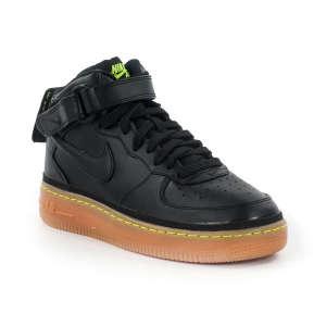 Nike Air Force1 Mid Junior Száras Cipő #fekete-neon 30407761