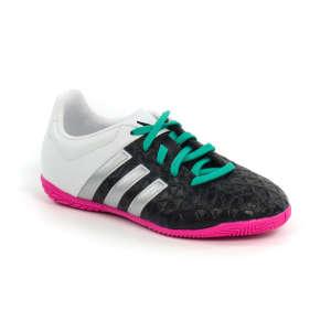 Adidas Ace 15.4 IN J Junior Teremcipő #fekete-fehér-pink-türkiz 28 30424517