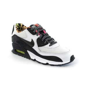 Nike Air Max 90 Fb Gs Junior Fiú Utcai Cipő  fekete-fehér-neon 3df71e7754