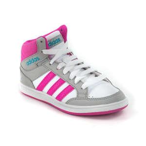 Adidas Neo Hoops Mid K száras Cipő  fehér-szürke-rózsaszín 642b1bc217