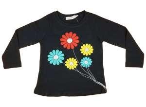 2bec50db41 Hosszú ujjú póló - Virág #fekete 30483489 Gyerek hosszú ujjú póló