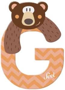Sevi Fa betű állatos - G pasztell #narancs 30401107