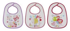 Baby Care Előke 3 db-os - lányos, pillangó 30401169