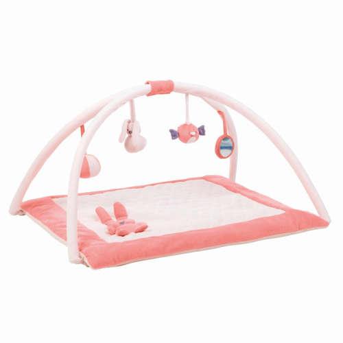 Nattou plüss Játszószőnyeg - Lapidou #rózsaszín