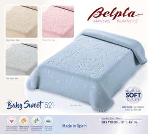 Belpla Baby Sweet Takaró #kék 80x110cm  30401239