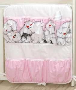 MamaKiddies Baby Bear Zsebes tároló - Jegesmaci #rózsaszín 30401675