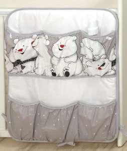 MamaKiddies Baby Bear Zsebes tároló - Jegesmaci #szürke 30401679